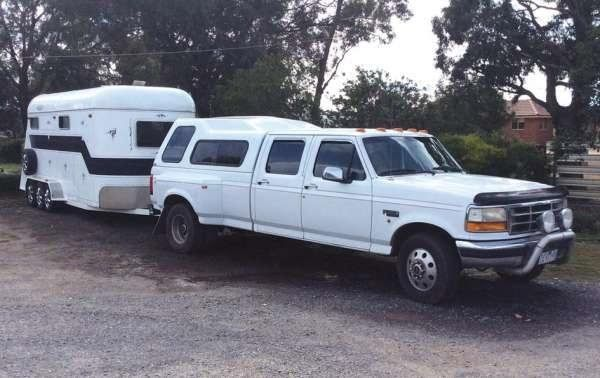 Ford F350 Ute & 4 Horse Angle Load Float Horse Transport for sale Vic