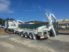 Container Swing Lift Side Loader Trailer for sale Qld