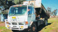Mitsubishi Hiab Flat Top Tipper Truck for sale NSW