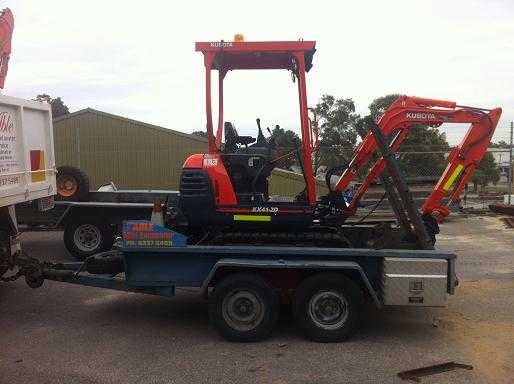 Earthmoving Equipment for sale WA mini Kubota Excavator