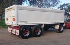 Pohlner Tri axle Tipping Dog Trailer for sale Vic Maroona