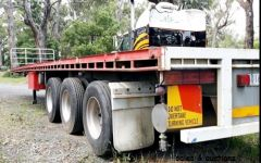 1998 3 axle barker flat deck trailer for sale Vic lang Lang