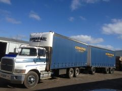 Ford LTS 9000 Truck Barry Stooley Dog Trailer for sale Vic