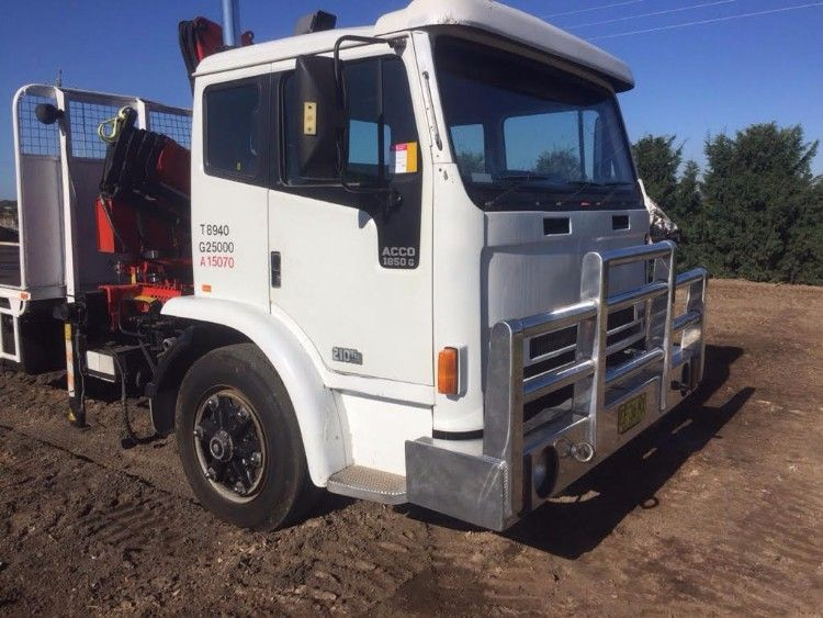 1996 International Crane Truck with Fassi F60 Crane for sale NSW